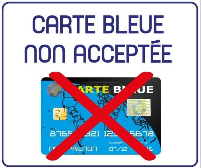 La carte bleue n'est pas acceptée pour régler le tarif ostéopathe Vannes